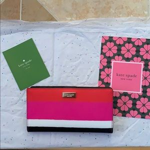 Kate Spade Laurel Way Bonita Stripe Stacy Wallet.